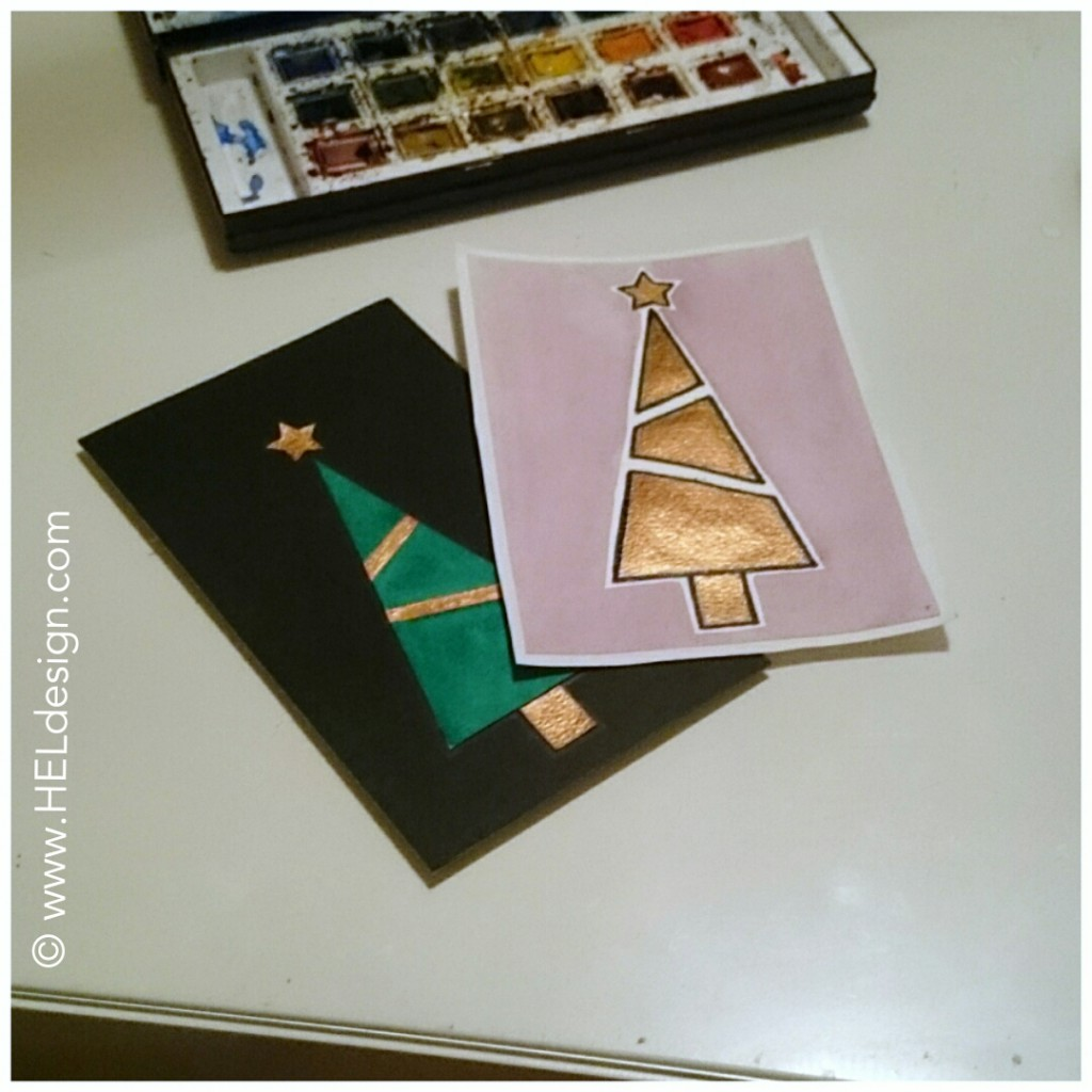 Make your own CHRISTMAS CARDS /// Lag dine egne JULEKORT